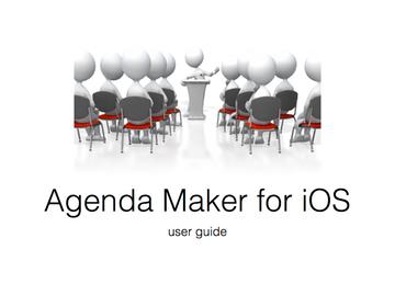 Agenda Maker | ydangle apps