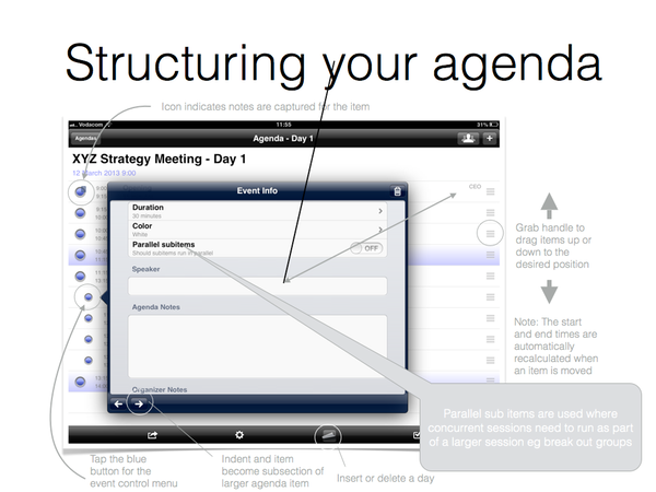 Structuring your Agenda | ydangle apps